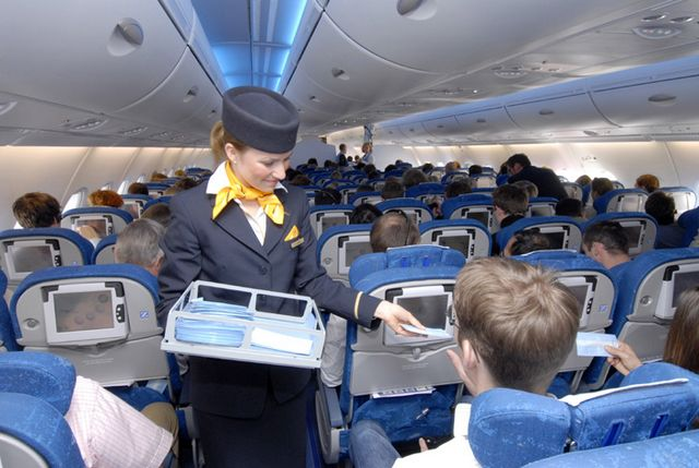 Premier vol virtuel avec passagers pour l 39 airbus a380 for Interieur avion air france