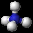 Représentation de l'ion ammonium