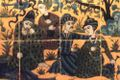 panneau en cuerda seca, provenant du Chehel Sutun, époque safavide