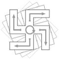 Rotation d'un svastika par illusion perceptive