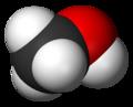 Représentation de Cram et vue 3D du méthanol