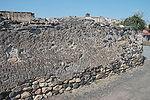 un exemple d'application de la chaux dans le bâtiment: un mur avec un crépi à base de chaux.