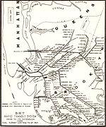 Le réseau de la BMT à Brooklyn en 1912.