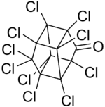 structure et représentation du chlordécone