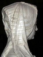Le double visage de la Prudence, détail du tombeau de François II de Bretagne