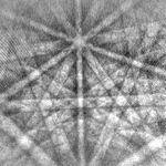 Cliché de diffraction obtenu par EBSD