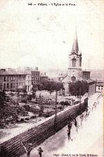 L'église de Villars en 1900