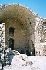 Firuz Abad, palais d'Ardéchir Ier, le grand iwan d'entrée du palais.