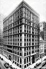 Le Home Insurance Building à Chicago en 1885