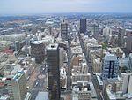 Centre-ville de Johannesburg vue du Carlton Centre