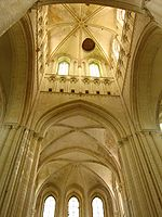 tour-lanterne de l'église abbatiale de Fécamp, haute de 65 mètres