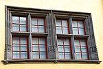 Une fenêtre à Meneau dans le quartier de Montferrand à Clermont-Ferrand (Puy-de-Dôme).