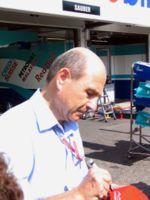 Peter Sauber au GP d'Hockenheim 2004