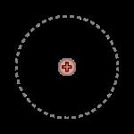 Une particule chargée, au repos dans le vide, engendre un champ électrique isotrope, identique dans toutes les directions de l'espace.
