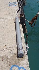 Exemple de marégraphe avant son immersion