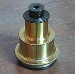 Oculaire Zeiss (1926) de type Huygens de 80 mm de focale (observatoire de Merate, Italie).
