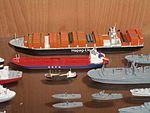 Ensemble de maquettes de navires modernes