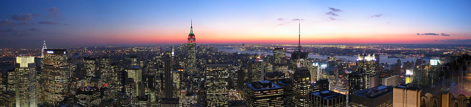 Vue de New York depuis le sommet du GE Building