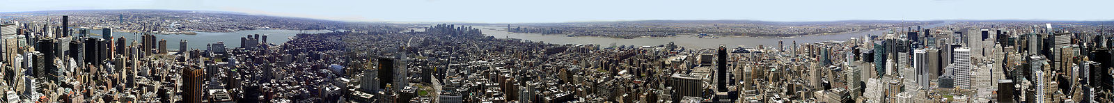 Vue panoramique de Manhattan prise à partir de l'Empire State Building