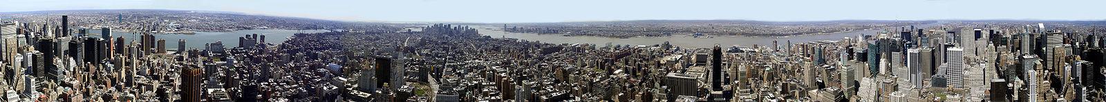 Vue panoramique de Manhattan prise à partir de l'Empire State Building