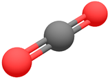 représentation 3D du dioxyde de carbone