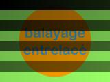 Balayage entrelacé et variation de contraste — normalement, l'image théorique est composée de