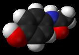 Représentations plane et 3D du paracétamol