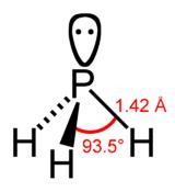 Structure de la phosphine
