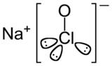 Structure chimique de l'hypochlorite de sodium