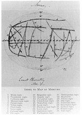 Carte de Percival Lowell (1896)