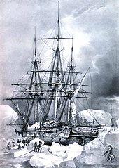 Gabare L'Astrolabe en 1838