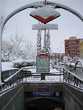 La station Valdezarza (Linie 7); lors des chutes de neige, le fonctionnement du réseau largement souterrain est peu perturbé