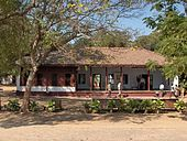 The Sabarmati Ashram, established by Mahatma Gandhi