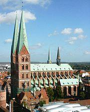 Église Sainte-Marie de Lübeck (briques)