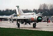 Le MIG-21 russe, un des meilleurs chasseurs à réaction de son époque