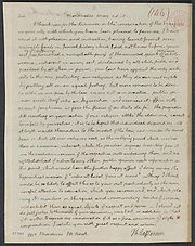 Lettre de Jefferson à Mordecai Noah, 1818