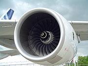 Réacteur Rolls-Royce Trent 900 sur un A380