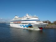 AIDAcara au départ d'Helsinki
