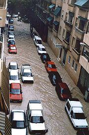 Inondation à Alicante, Espagne