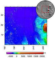 topographie d'Amazonis Planitia