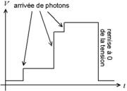 Tension dans un détecteur avec remise à zéro périodique