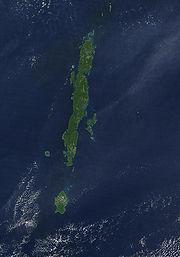 Photo satellite des îles Andaman