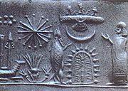 Sceau sumérien représentant les Anunnaki