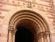 Arc plein cintre dans la cathédrale de Speyer en Allemagne