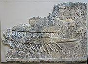 Une birème assyrienne vers VIIesiècle av. J.-C.