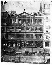 L'atelier de Nadar au 35, boulevard des Capucines, en 1860.