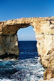 Arche sur l'île Gozo à Malte