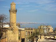 Vue sur la mer Caspienne à Bakou