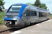 """Autorail X73900 """"Baleine"""" en service entre Mulhouse et Neuenburg (Allemagne)"""