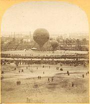 Seconde ascension du Géant. Paris, Champ de Mars, 18 octobre 1863
